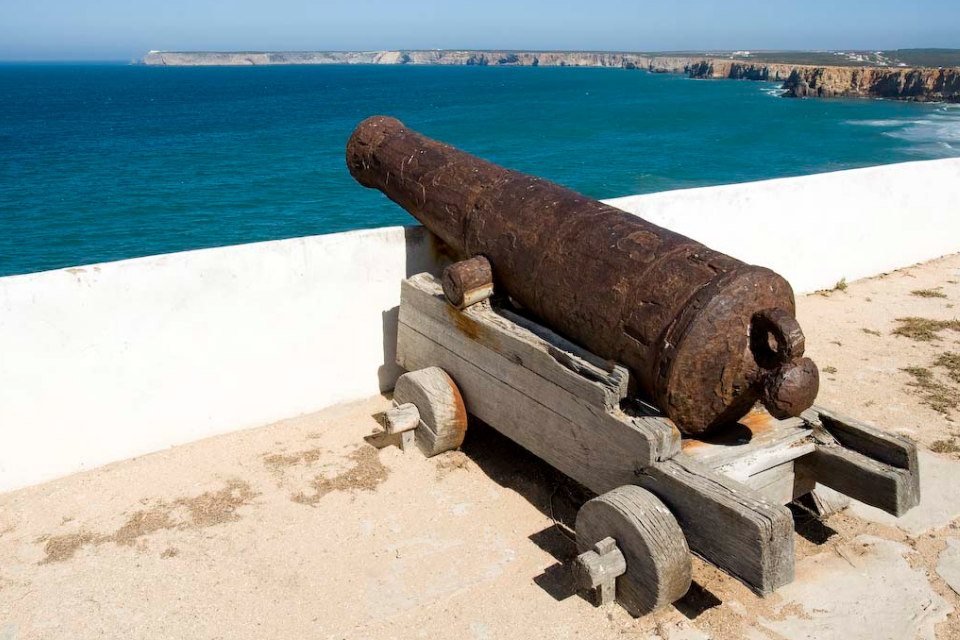 canhão - fortaleza de sagres - algarve